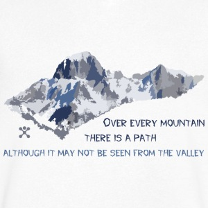 Over all the mountains ... - Men's V-Neck T-Shirt