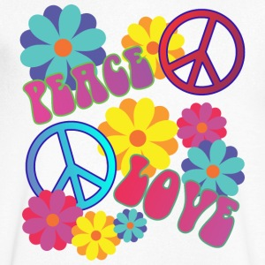 love peace hippie flower power - Men's V-Neck T-Shirt