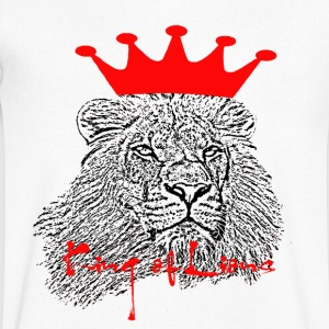 King of Lions - Men's V-Neck T-Shirt