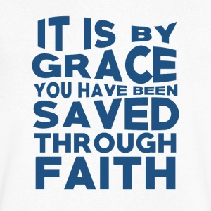 Faith Saved You - Believe - Men's V-Neck T-Shirt