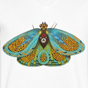 Psychedelic butterfly - Men's V-Neck T-Shirt