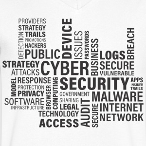 Cyber ​​security - Mannen T-shirt met V-hals
