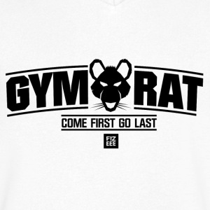 GYM RAT WEAR FITNESS - T-shirt med v-ringning herr