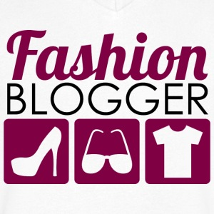 Fashion Blogger - T-skjorte med V-utsnitt for menn