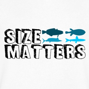 Pêche - Size Matters - T-shirt Homme col V