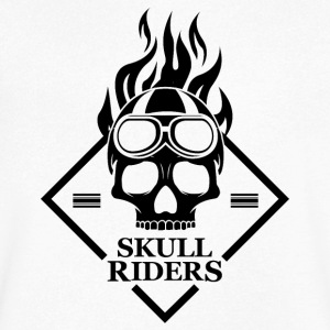 Skulls Motorcycle Motorcyclists - Men's V-Neck T-Shirt
