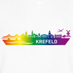 Skyline KREFELD Rainbow - Men's V-Neck T-Shirt