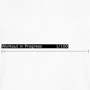 Workout in progress: gym, workout, fitness - Men's V-Neck T-Shirt