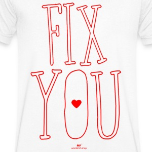 fix You - Mannen T-shirt met V-hals