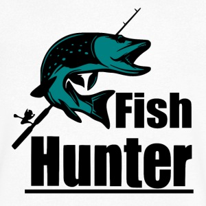Fish Hunter - Fishing - Men's V-Neck T-Shirt