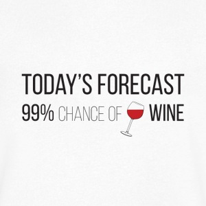 Forecast wine - Men's V-Neck T-Shirt