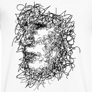 Face Scribbling - Men's V-Neck T-Shirt