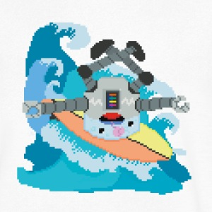 Surfing robot - Men's V-Neck T-Shirt