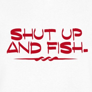 Shut Up and Fish - Fishing Addict - Männer T-Shirt mit V-Ausschnitt