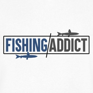 Fishing Addict - Men's V-Neck T-Shirt