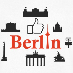 Berlin with Like Daumen - Men's V-Neck T-Shirt