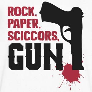Amazing rock paper scissors gun - Men's V-Neck T-Shirt