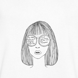 Woman with glasses - Men's V-Neck T-Shirt