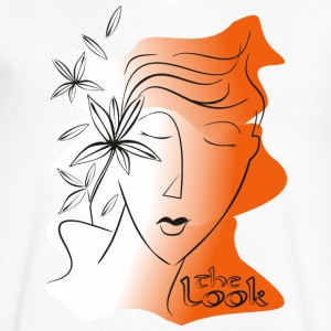 Orange gezicht 5 (serie The Look) - Mannen T-shirt met V-hals