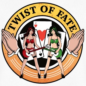 Twist of Fate - T-skjorte med V-utsnitt for menn