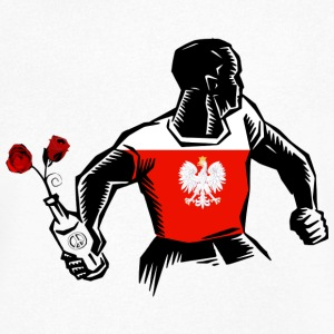 MOLOTOV ROSES LOVE PEACE Poland Poland Polska - Men's V-Neck T-Shirt