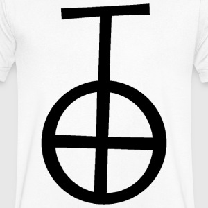 Uitgesproken 'occult of black magic' - Mannen T-shirt met V-hals