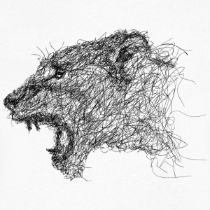 lioness Scribble - Men's V-Neck T-Shirt