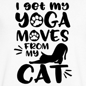 I get my Yoga Moves from my Cat - Männer T-Shirt mit V-Ausschnitt