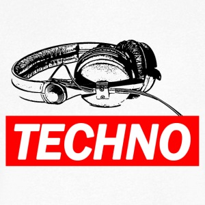 TECHNO Tee - Headphones / Headphones - Men's V-Neck T-Shirt