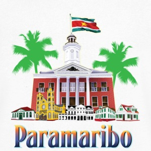 buildings Paramaribo - Men's V-Neck T-Shirt