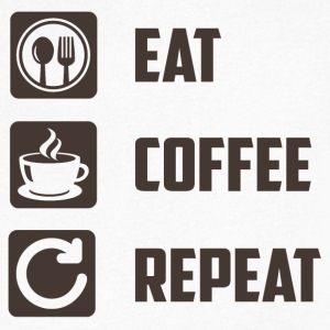 Eat, Coffee, Repeat - Men's V-Neck T-Shirt
