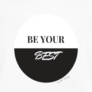 BE YOUR BEST - Hustle Fashion by AMTDesign - Men's V-Neck T-Shirt