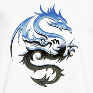 dragon Tribal - Mannen T-shirt met V-hals