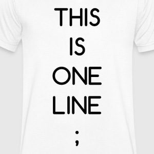 This Is One Line; - Men's V-Neck T-Shirt