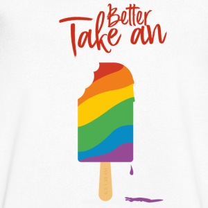 Take A Better Ice Cream - Koszulka męska Canvas z dekoltem w serek