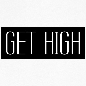 Get High Svart 001 runde design - T-skjorte med V-utsnitt for menn
