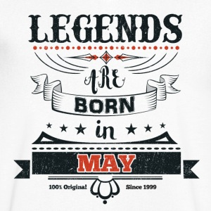 Legends are born in May birthday gift - Men's V-Neck T-Shirt