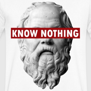 KNOW NOTHING SOCRATES - Men's V-Neck T-Shirt