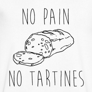 No Pain No Tartines - Men's V-Neck T-Shirt