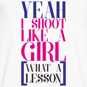 SHOOT LIKE A GIRL - Men's V-Neck T-Shirt
