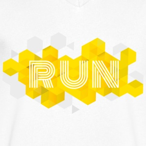RUN - Mannen T-shirt met V-hals