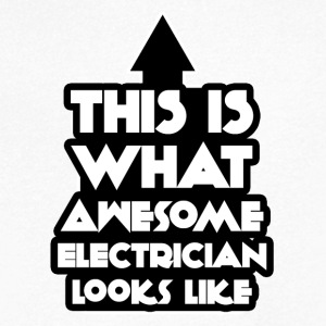 Electrician: This is what awesome looks electrician - Men's V-Neck T-Shirt