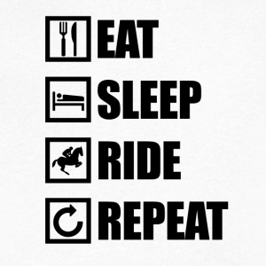 EAT SLEEP RIDE REPEAT - Men's V-Neck T-Shirt