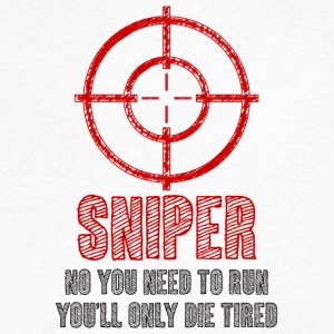 Military / Patriotic: Sniper - No you need to run, - Men's V-Neck T-Shirt