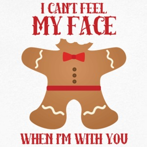 Christmas: I can't feel my face when i'm with - Men's V-Neck T-Shirt