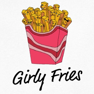 girly Fries - Men's V-Neck T-Shirt