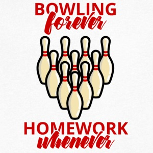 Bowling / Bowler bowling forever - Huiswerk Wanneer - Mannen T-shirt met V-hals