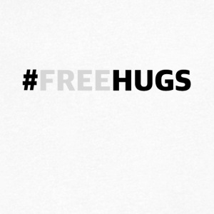freehugs - Mannen T-shirt met V-hals