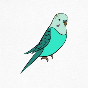 budgie Turquoise - Mannen T-shirt met V-hals