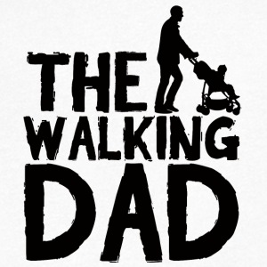 Father's Day: The Walking Dad - Men's V-Neck T-Shirt